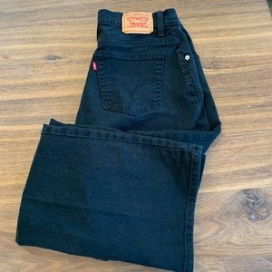 Levi's Relaxed Boot Cut Black Stretch Jeans 12
